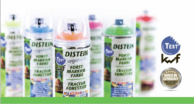 DISTEIN profesionāli marķēšanas aerosoli mežsaimniecībai
